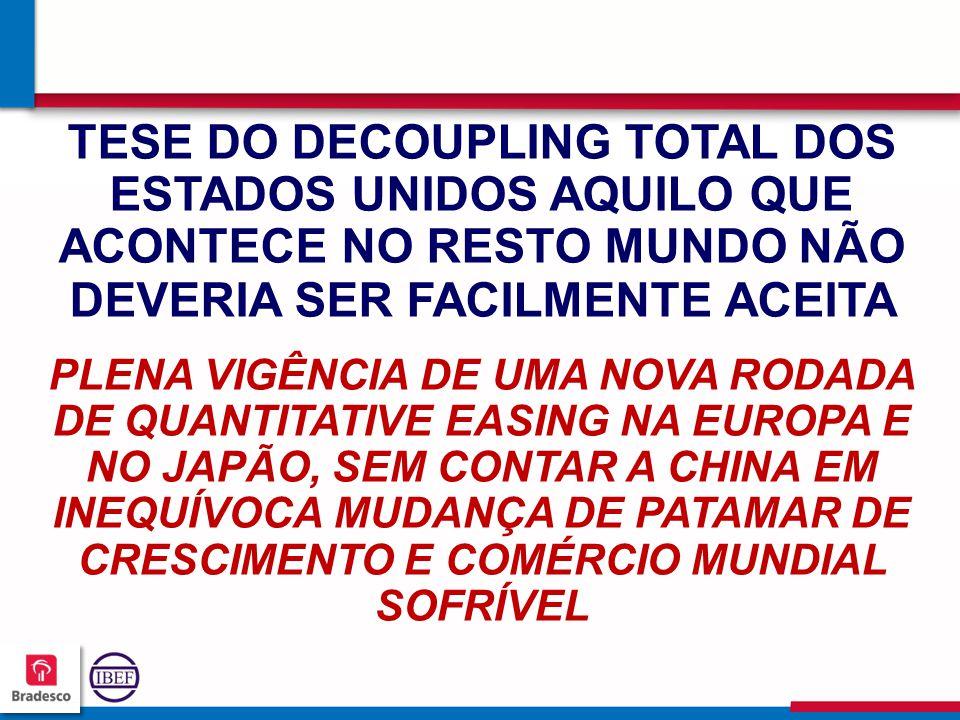 363636 3636 TESE DO DECOUPLING TOTAL DOS ESTADOS UNIDOS AQUILO QUE ACONTECE NO RESTO MUNDO NÃO DEVERIA SER FACILMENTE ACEITA PLENA VIGÊNCIA DE UMA NOVA RODADA DE QUANTITATIVE EASING NA EUROPA E NO JAPÃO, SEM CONTAR A CHINA EM INEQUÍVOCA MUDANÇA DE PATAMAR DE CRESCIMENTO E COMÉRCIO MUNDIAL SOFRÍVEL