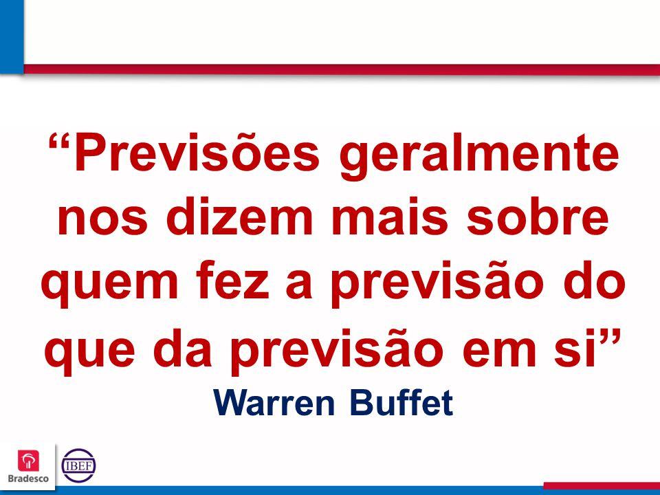 """555 5 """"Previsões geralmente nos dizem mais sobre quem fez a previsão do que da previsão em si"""" Warren Buffet"""