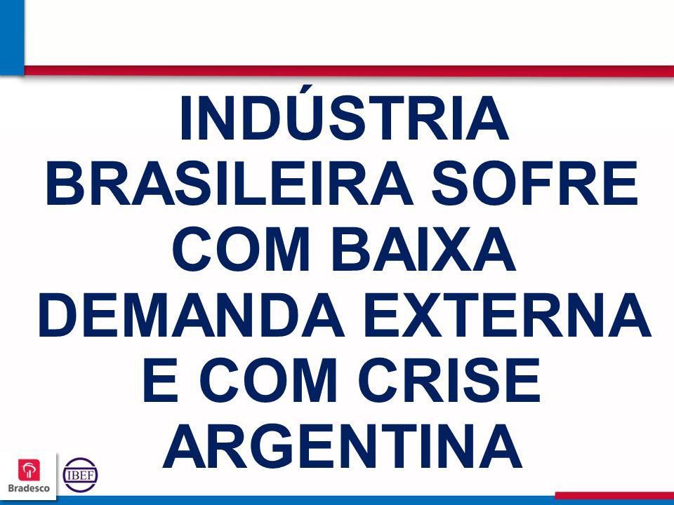 727272 7272 INDÚSTRIA BRASILEIRA SOFRE COM BAIXA DEMANDA EXTERNA E COM CRISE ARGENTINA