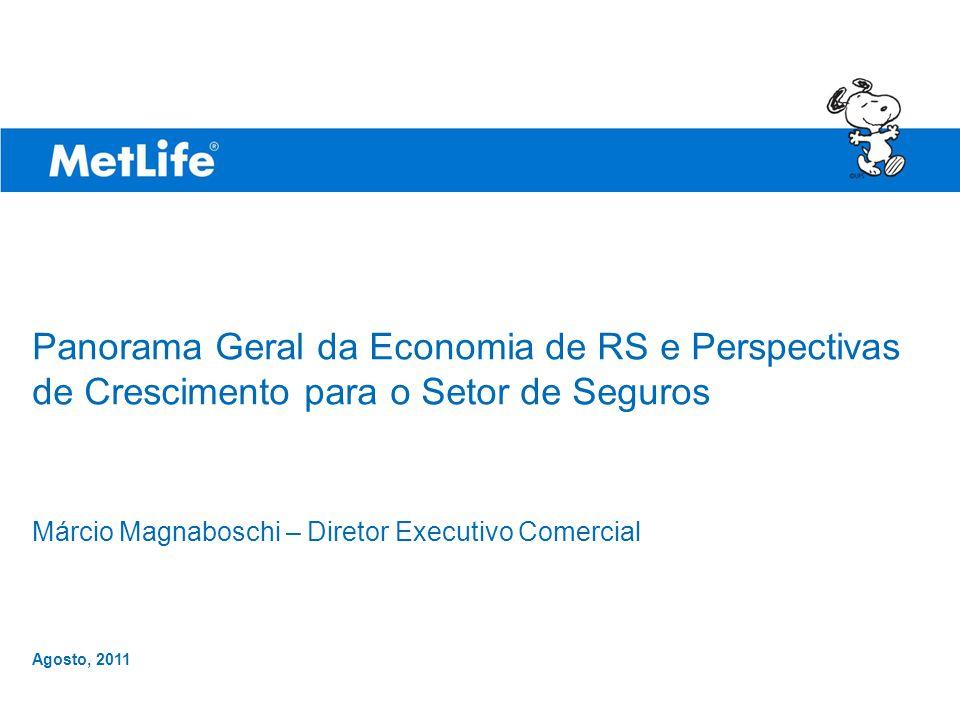 ©UFS Panorama Geral da Economia de RS e Perspectivas de Crescimento para o Setor de Seguros Márcio Magnaboschi – Diretor Executivo Comercial Agosto, 2011