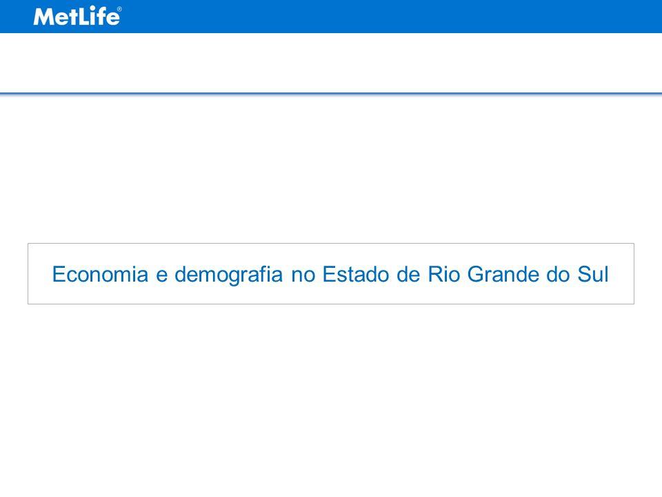 Economia e demografia no Estado de Rio Grande do Sul