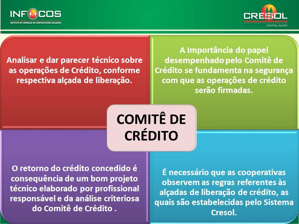 Analisar e dar parecer técnico sobre as operações de Crédito, conforme respectiva alçada de liberação. A Importância do papel desempenhado pelo Comitê