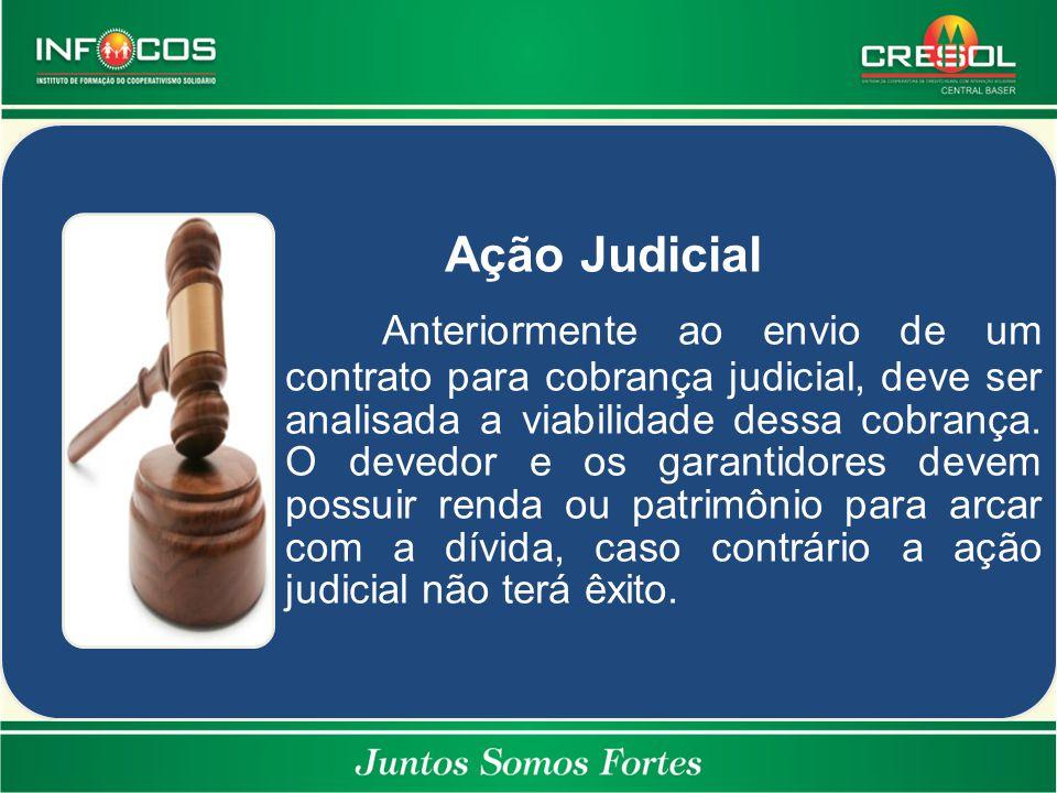 Ação Judicial Anteriormente ao envio de um contrato para cobrança judicial, deve ser analisada a viabilidade dessa cobrança. O devedor e os garantidor