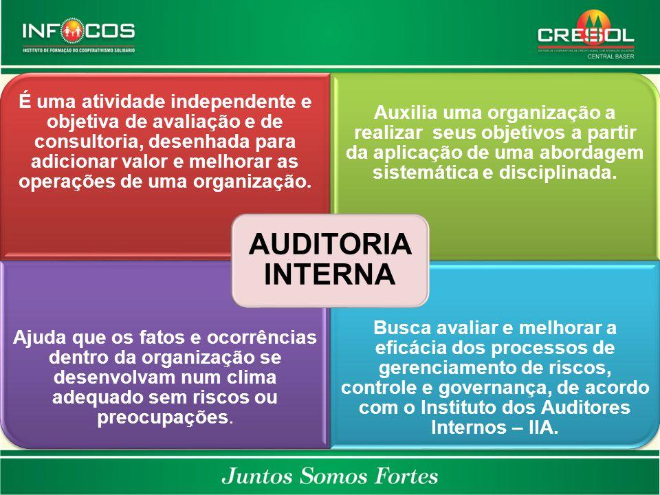 É uma atividade independente e objetiva de avaliação e de consultoria, desenhada para adicionar valor e melhorar as operações de uma organização. Auxi