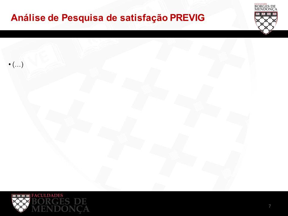 Análise de Pesquisa de satisfação PREVIG (...) 7