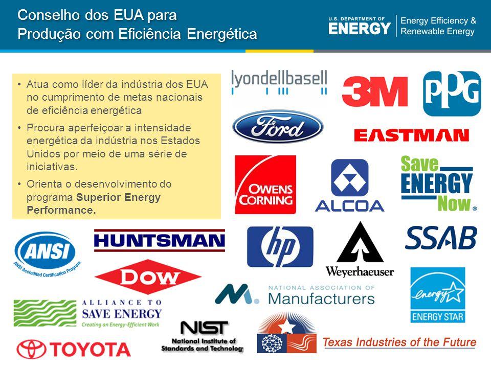 35 Departamento de Energia dos EUAeere.energy.gov Conselho dos EUA para Produção com Eficiência Energética Atua como líder da indústria dos EUA no cumprimento de metas nacionais de eficiência energética Procura aperfeiçoar a intensidade energética da indústria nos Estados Unidos por meio de uma série de iniciativas.
