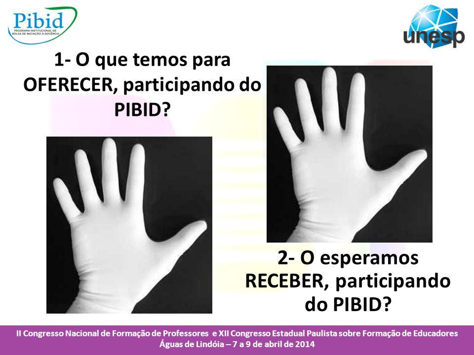 II Congresso Nacional de Formação de Professores e XII Congresso Estadual Paulista sobre Formação de Educadores Águas de Lindóia – 7 a 9 de abril de 2