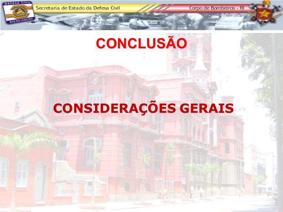 CONSIDERAÇÕES GERAIS CONCLUSÃO