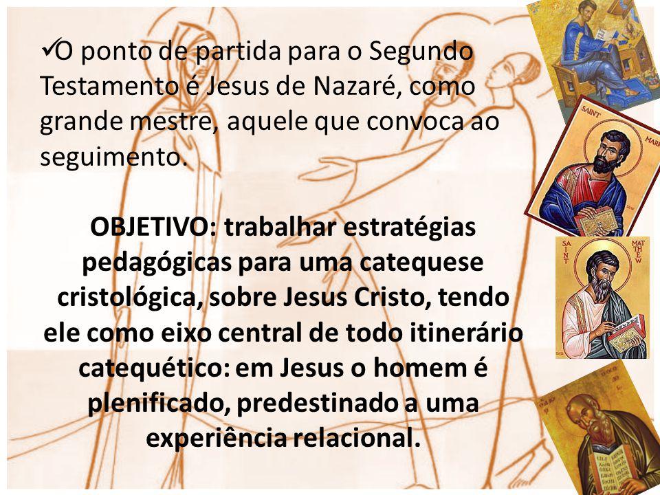 O ponto de partida para o Segundo Testamento é Jesus de Nazaré, como grande mestre, aquele que convoca ao seguimento. OBJETIVO: trabalhar estratégias