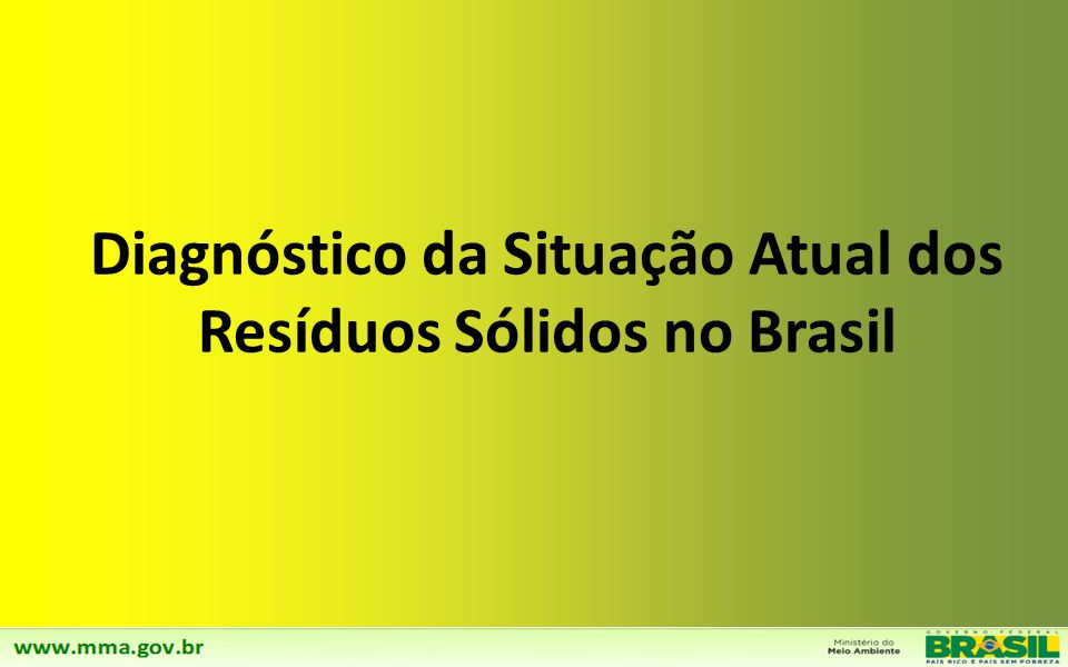 Apresentação Introdução Capítulo 1 – Diagnóstico da Situação dos Resíduos Sólidos no Brasil Capítulo 2 – Cenários Macro-Econômicos e Institucionais Ca