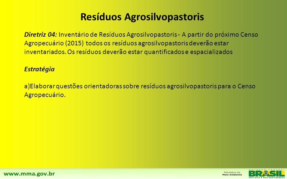 Diretriz 03: Implementação da coleta seletiva da parcela dos resíduos sólidos secos no meio rural e destinação adequada em concordância com a destinaç