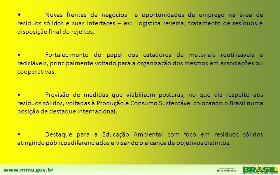 A implementação de Ações previstas no Plano Nacional de RS geram um impacto em vários setores da economia e no dia-a-dia do cidadão brasileiro. Forte