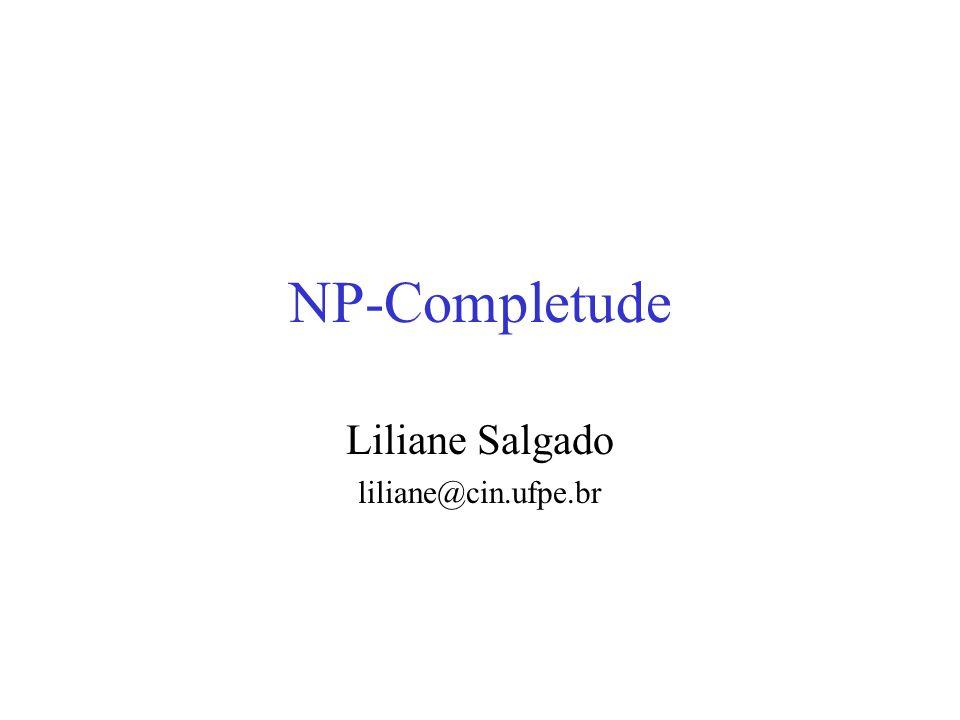 NP-Completude Liliane Salgado liliane@cin.ufpe.br