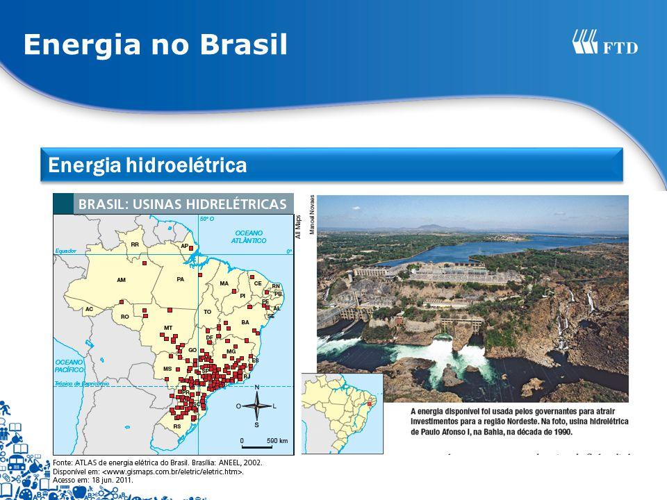 Energia no Brasil Energia hidroelétrica
