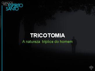 TRICOTOMIA A natureza tríplice do homem