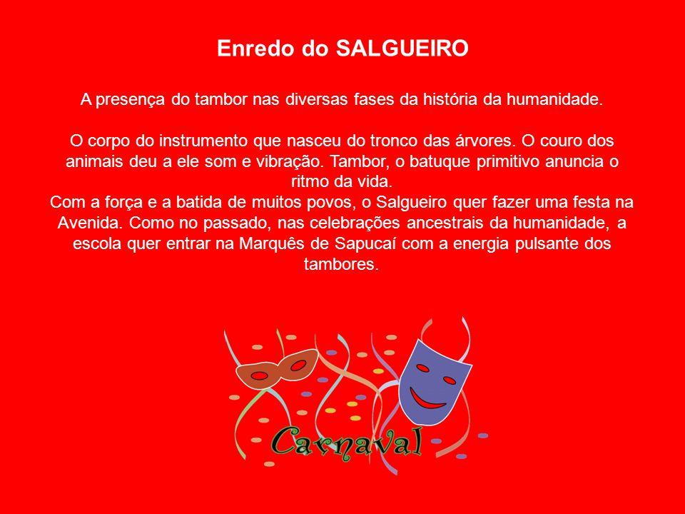 Enredo do SALGUEIRO A presença do tambor nas diversas fases da história da humanidade.