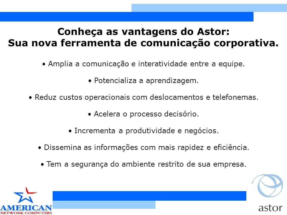 Conheça cada um dos 3 módulos que a tecnologia Astor possui: 1.