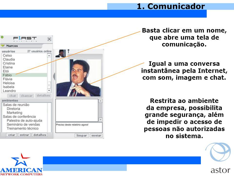 3.Sala de Conferência O palestrante pode elaborar questões, que geram gráficos.