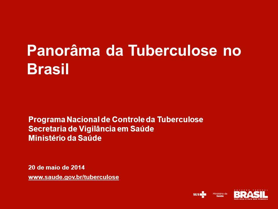 Programa Nacional de Controle da Tuberculose Secretaria de Vigilância em Saúde Ministério da Saúde 20 de maio de 2014 www.saude.gov.br/tuberculose Pan