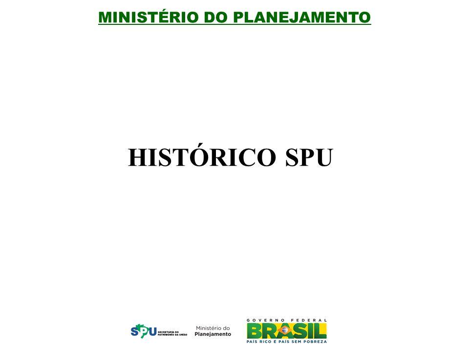 MINISTÉRIO DO PLANEJAMENTO HISTÓRICO SPU