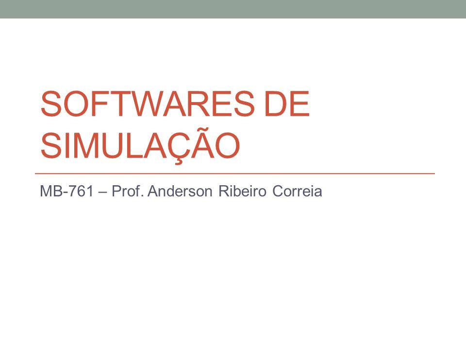 SOFTWARES DE SIMULAÇÃO MB-761 – Prof. Anderson Ribeiro Correia