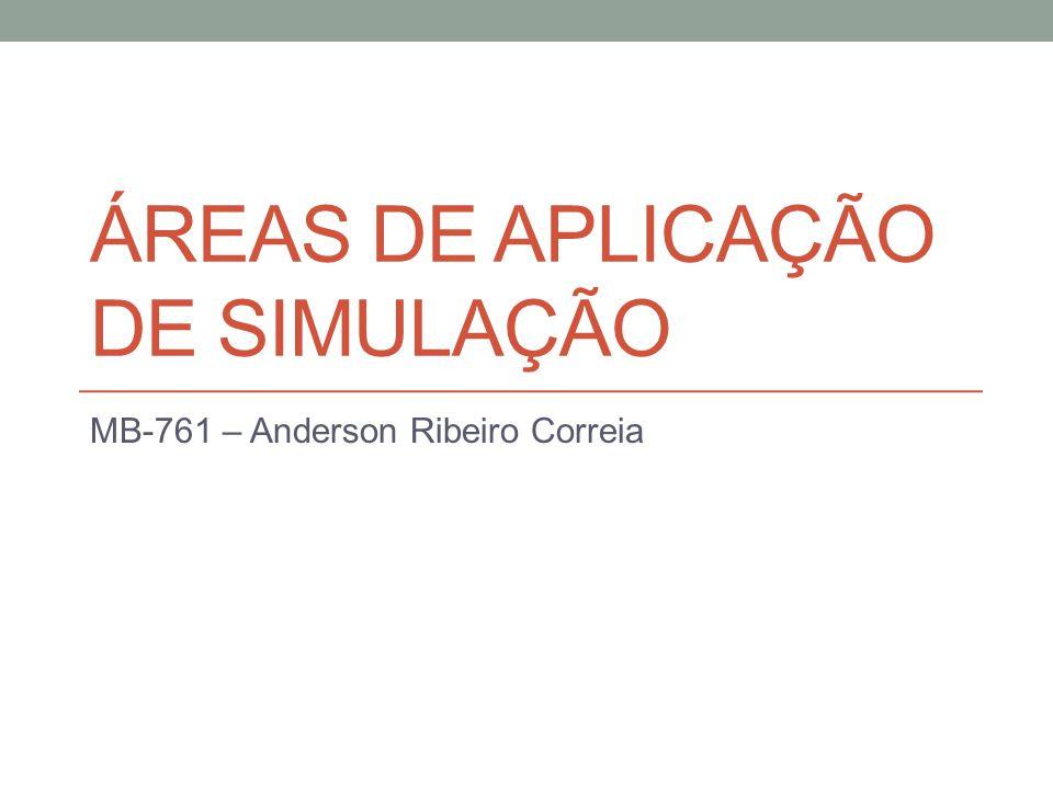 ÁREAS DE APLICAÇÃO DE SIMULAÇÃO MB-761 – Anderson Ribeiro Correia