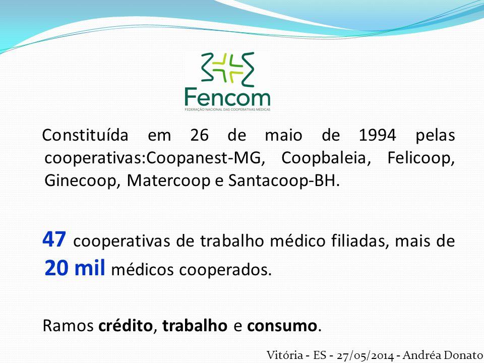 Constituída em 26 de maio de 1994 pelas cooperativas:Coopanest-MG, Coopbaleia, Felicoop, Ginecoop, Matercoop e Santacoop-BH. 47 cooperativas de trabal