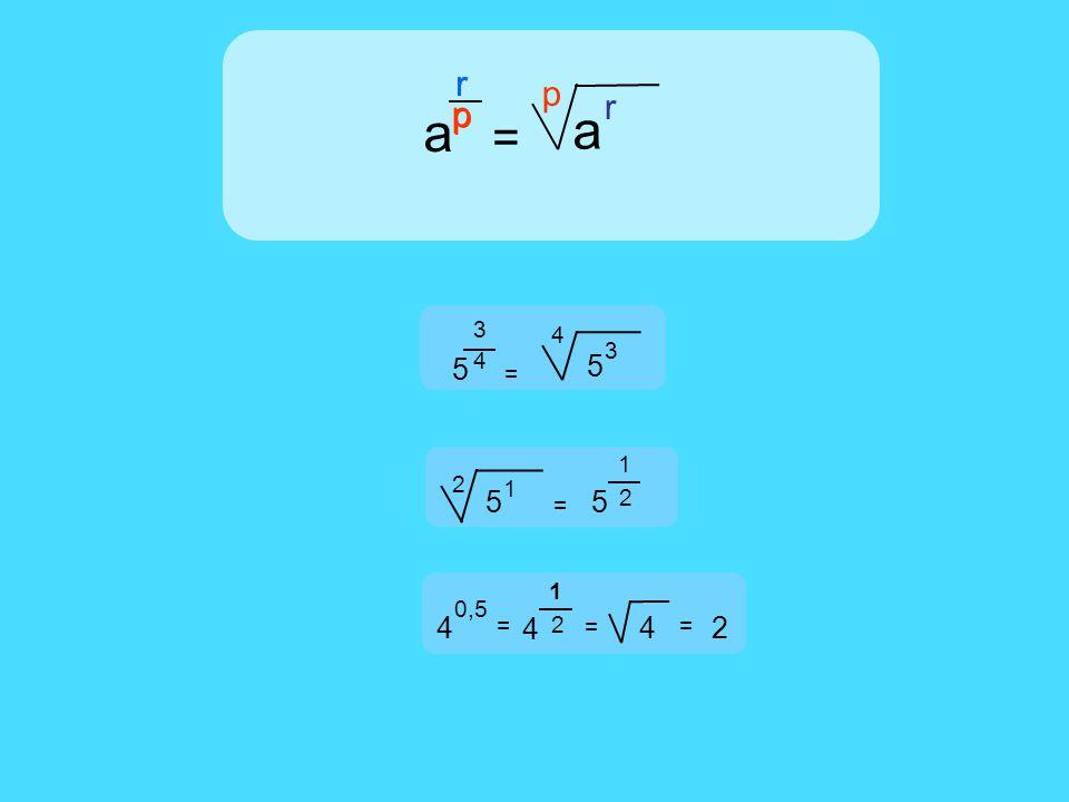 p p rr a = a p r 4 3 5 = 5 4 3 2 1 5 = 5 0,5 4 = 2 1 4 = 4 = 2 2 1