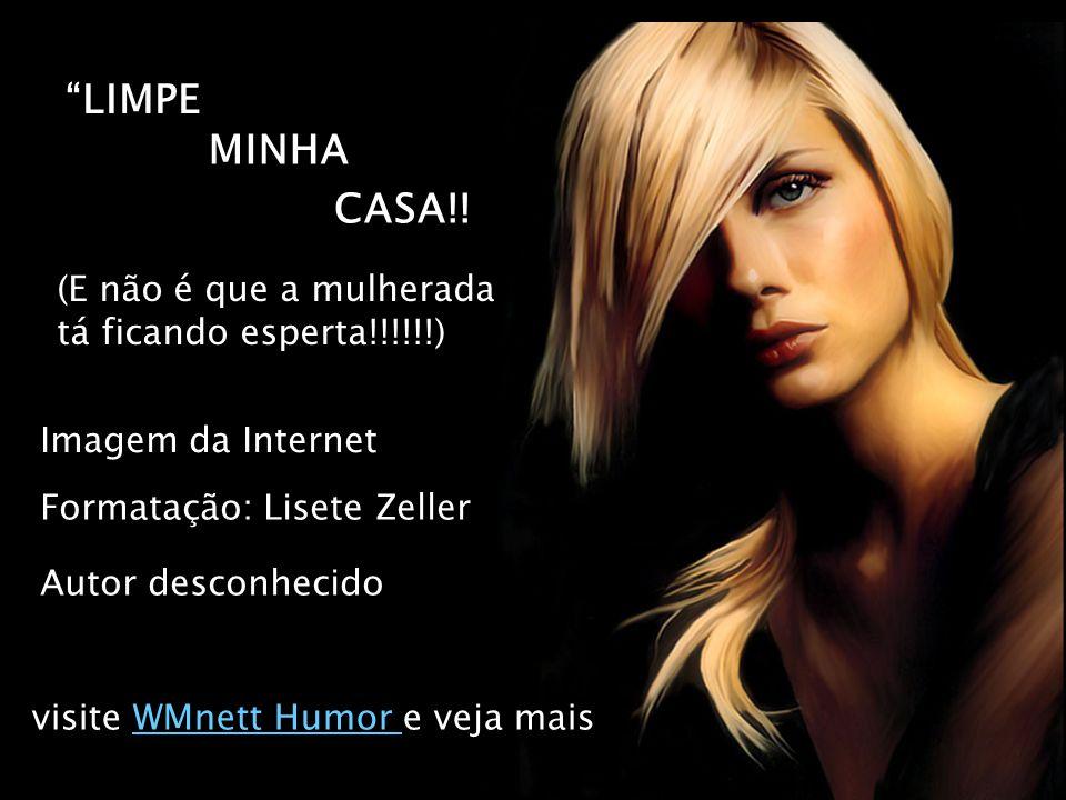 LIMPE (E não é que a mulherada tá ficando esperta!!!!!!) Imagem da Internet Formatação: Lisete Zeller MINHA CASA!.