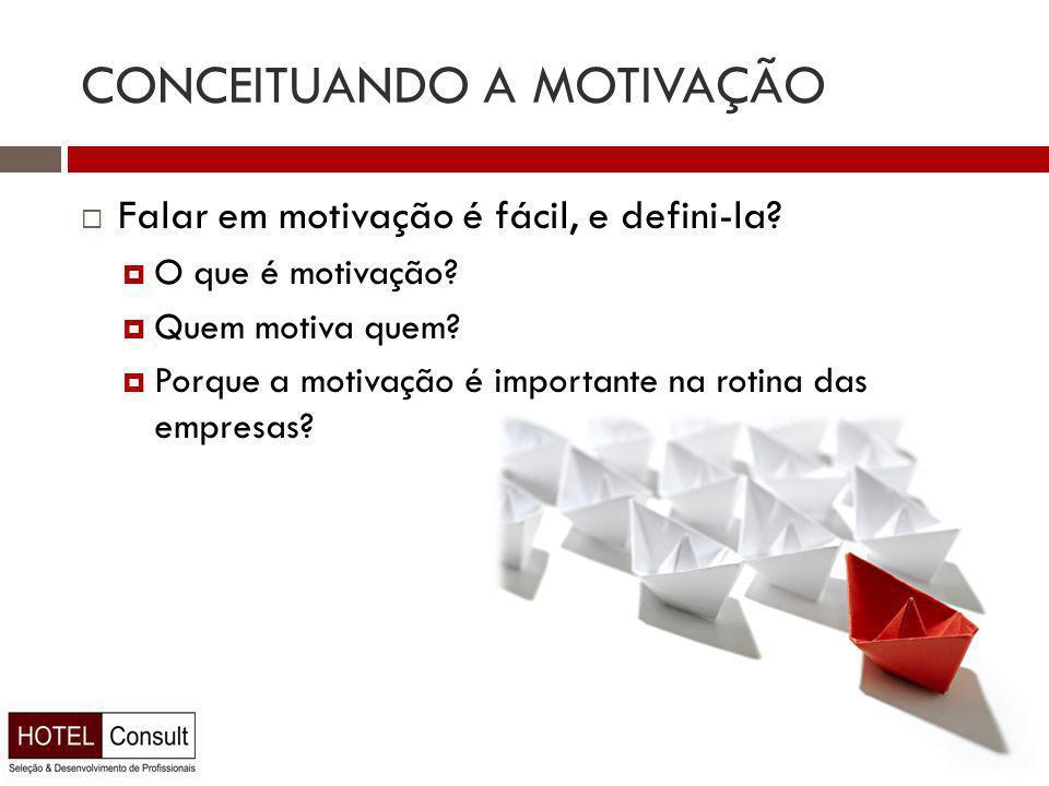 CONCEITUANDO A MOTIVAÇÃO  Falar em motivação é fácil, e defini-la.