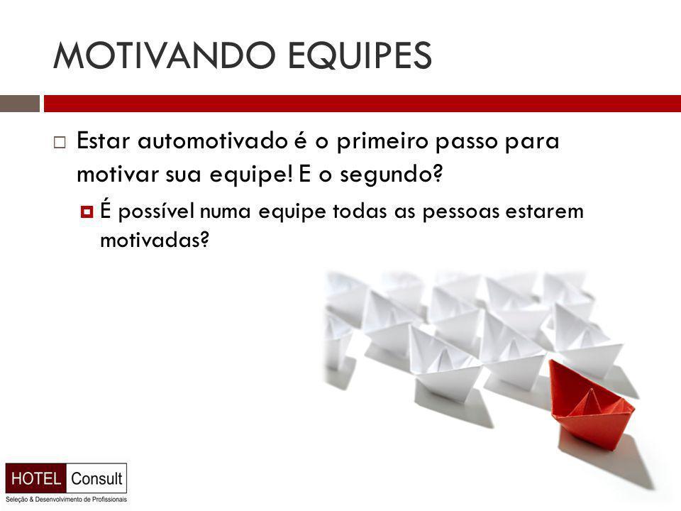 MOTIVANDO EQUIPES  Estar automotivado é o primeiro passo para motivar sua equipe.