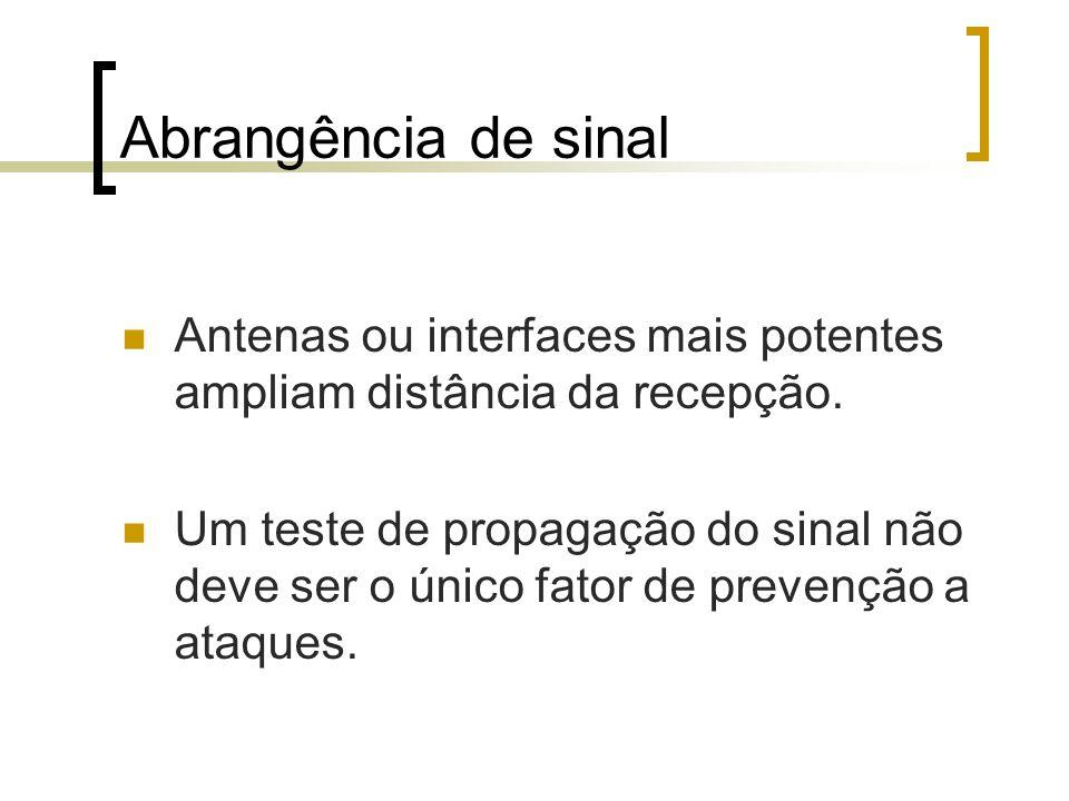 Abrangência de sinal Antenas ou interfaces mais potentes ampliam distância da recepção.