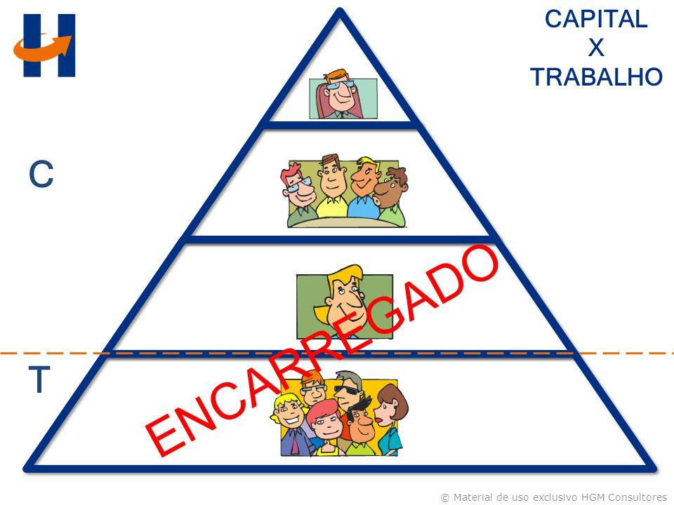 © Material de uso exclusivo HGM Consultores CAPITAL X TRABALHO C T ENCARREGADO