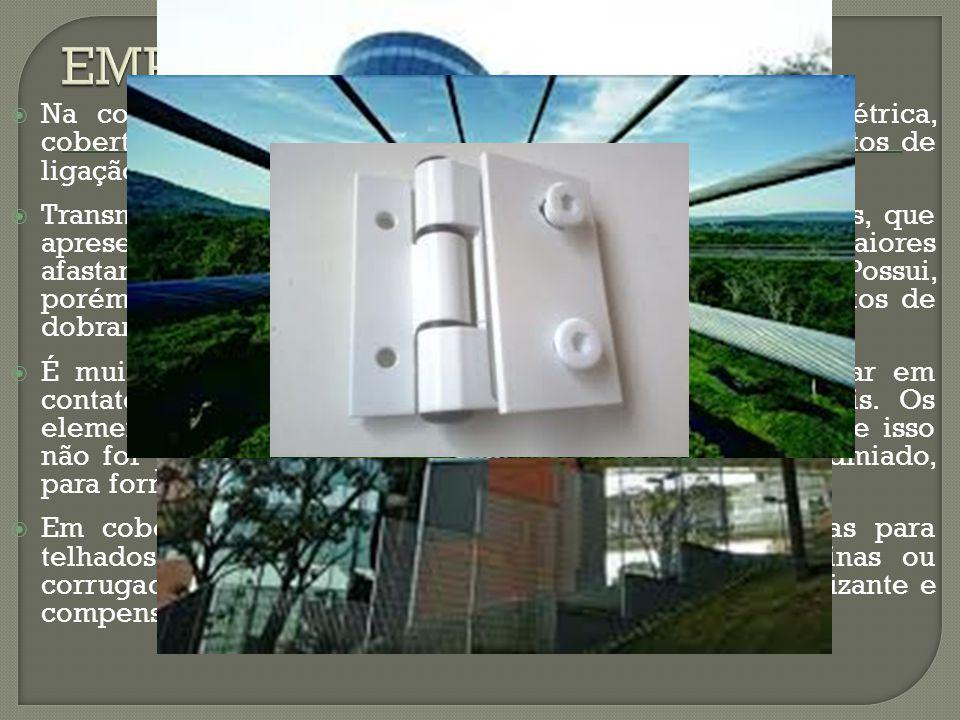  Na construção, é usado em transmissão de energia elétrica, coberturas, revestimentos, esquadrias, guarnições, elementos de ligação, etc...  Transmi