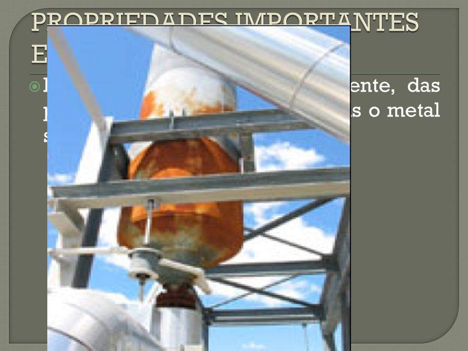  DURAÇÃO: depende do ambiente, das proteções e solicitações as quais o metal se submete.