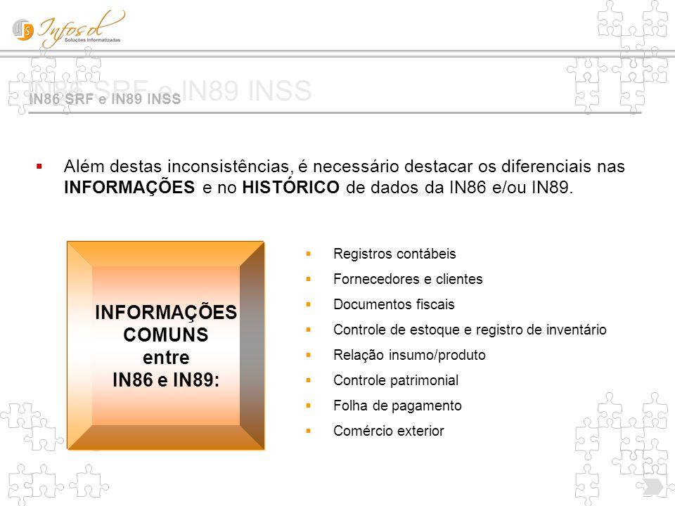 IN86 SRF e IN89 INSS INFORMAÇÕES DIFERENCIADAS!.