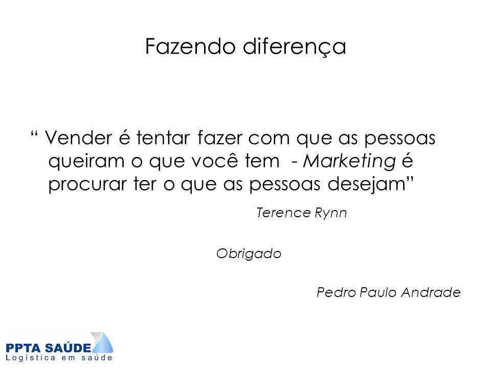 """Fazendo diferença """" Vender é tentar fazer com que as pessoas queiram o que você tem - Marketing é procurar ter o que as pessoas desejam"""" Terence Rynn"""