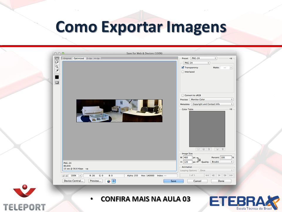 Como Exportar Imagens CONFIRA MAIS NA AULA 03 CONFIRA MAIS NA AULA 03