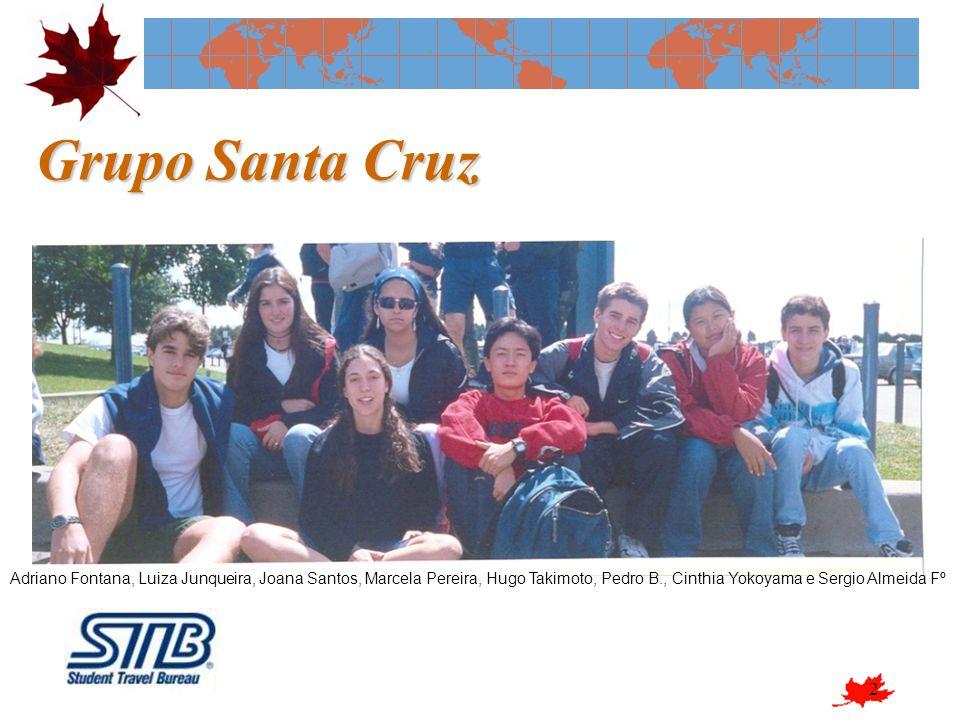 2 Grupo Santa Cruz Adriano Fontana, Luiza Junqueira, Joana Santos, Marcela Pereira, Hugo Takimoto, Pedro B., Cinthia Yokoyama e Sergio Almeida Fº