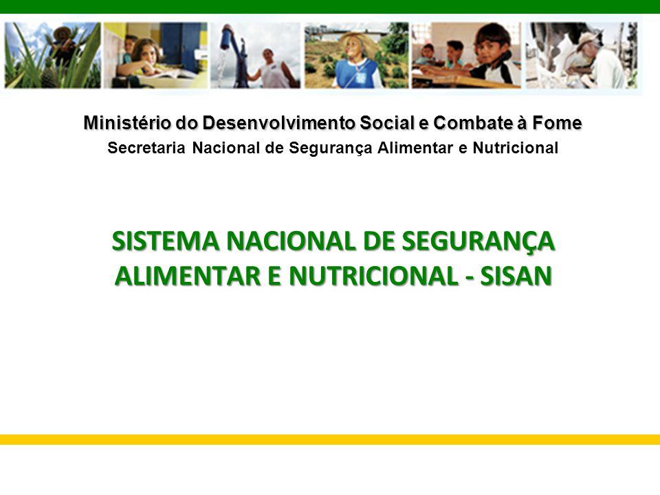 Ministério do Desenvolvimento Social e Combate à Fome Secretaria Nacional de Segurança Alimentar e Nutricional SISTEMA NACIONAL DE SEGURANÇA ALIMENTAR