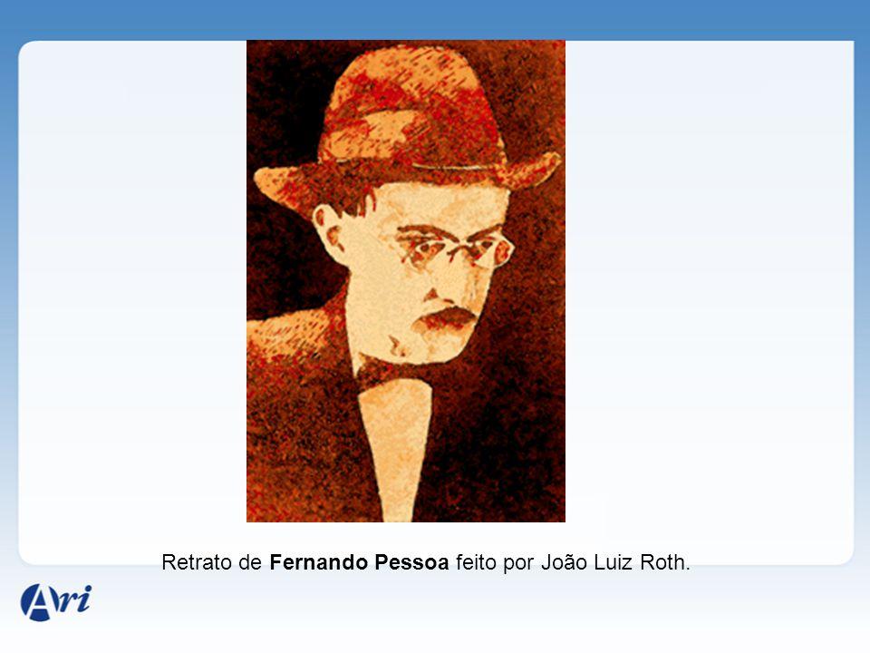 Retrato de Fernando Pessoa feito por João Luiz Roth.