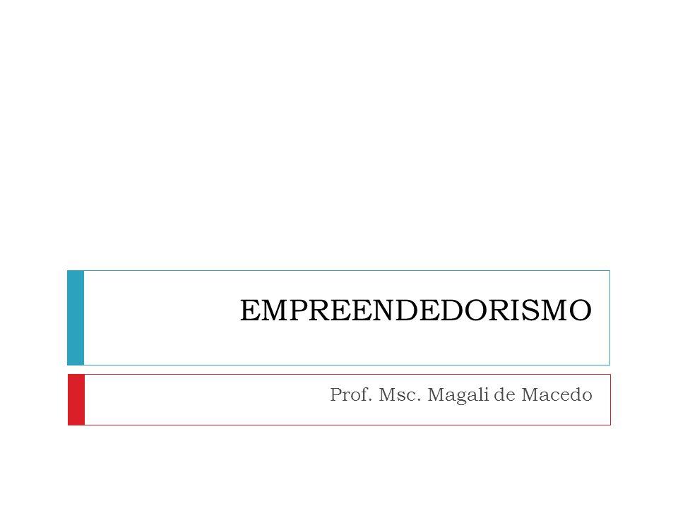 EMPREENDEDORISMO Prof. Msc. Magali de Macedo
