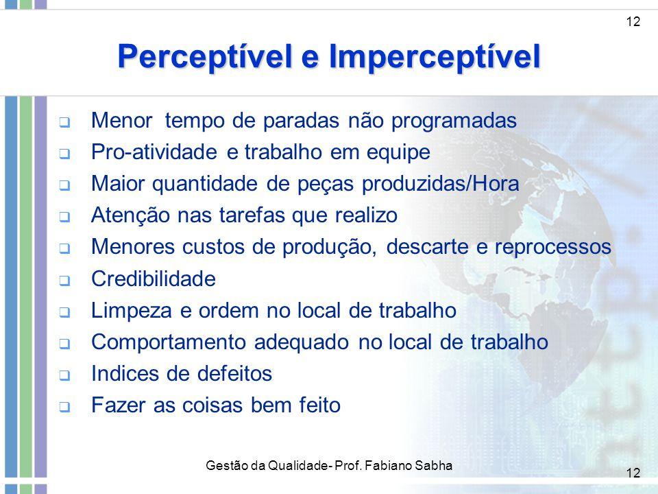 12 Perceptível e Imperceptível   Menor tempo de paradas não programadas   Pro-atividade e trabalho em equipe   Maior quantidade de peças produzi
