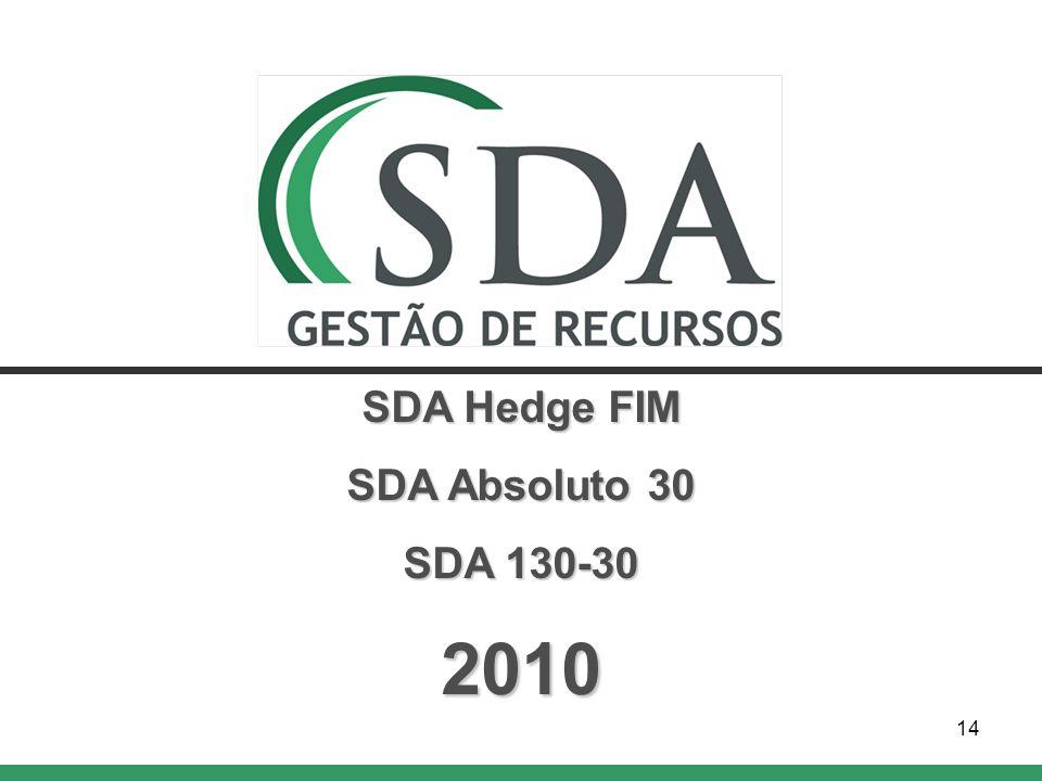 14 SDA Hedge FIM SDA Absoluto 30 SDA 130-30 2010