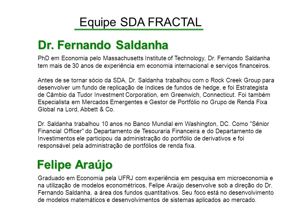 Equipe SDA FRACTAL Dr.