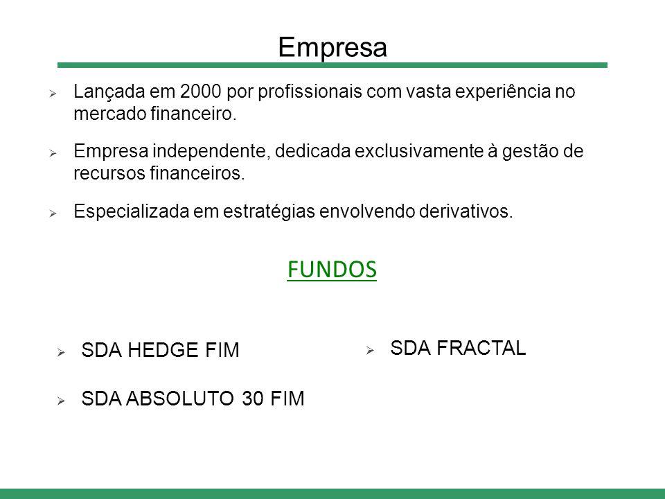  Lançada em 2000 por profissionais com vasta experiência no mercado financeiro.