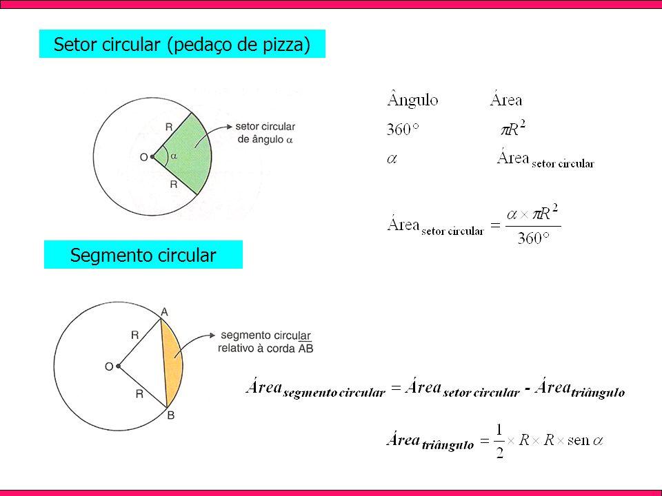 Setor circular (pedaço de pizza) Segmento circular