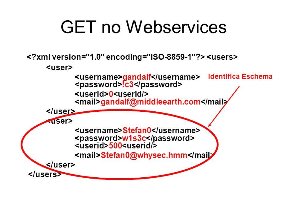 GET no Webservices gandalf !c3 0 gandalf@middleearth.com Stefan0 w1s3c 500 Stefan0@whysec.hmm Identifica Eschema