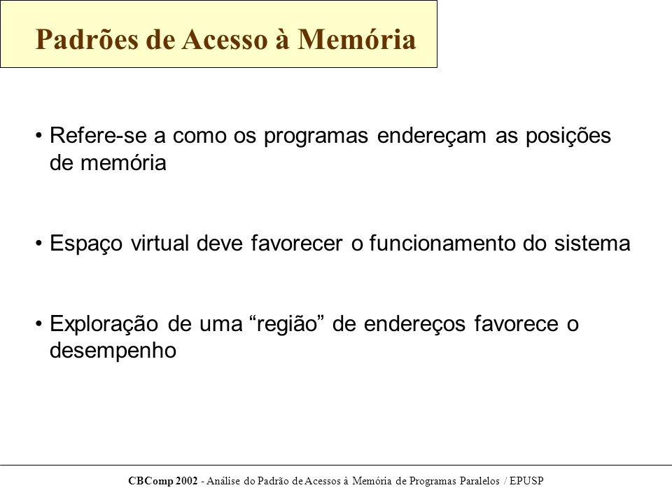 CBComp 2002 - Análise do Padrão de Acessos à Memória de Programas Paralelos / EPUSP Versão Atual da Ferramenta Diferenciação entre leitura/gravação e processadores Versão ijk com 2 processadores Proc.