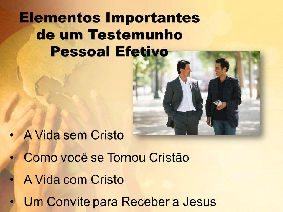 A Vida sem Cristo Como você se Tornou Cristão A Vida com Cristo Um Convite para Receber a Jesus Elementos Importantes de um Testemunho Pessoal Efetivo